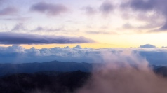 Only if you strive to climb these peaks will you see the beauty that is above the thick clouds that cover this mysterious land. (Sólo si te esfuerzas en subir a estos picos verás la belleza que se encuentra arriba de las espesas nubes que cubren a esta misteriosa tierra).